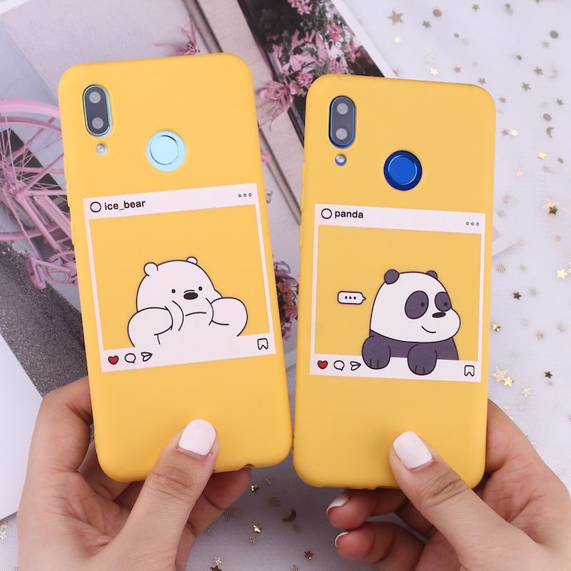 For Samsung S8 S9 S10 S10e Plus Note 8 9 10 A7 A8 Bears Cartoon Cute Instagram images Silicone Phone Case Capa Fundas Coque image