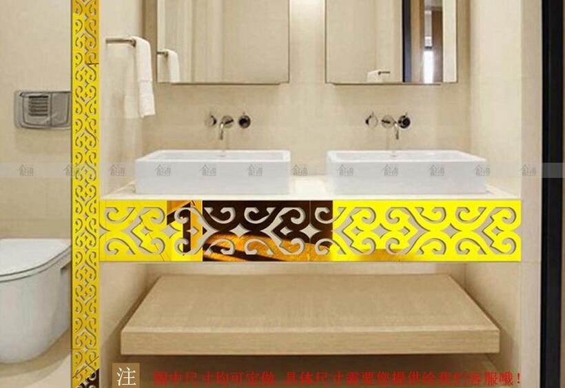 Acrylic 5pcs/lot Baseboard Decorative 8