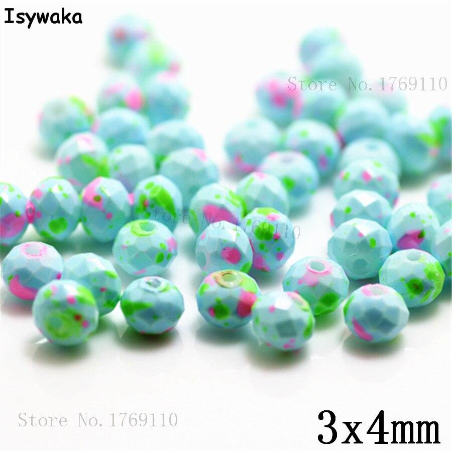 Isywaka 3X4mm 30,000 pièces Rondelle Autriche facettes En Verre Cristal Perles Lâche Spacer Perles Rondes pour la Fabrication De Bijoux NO 16