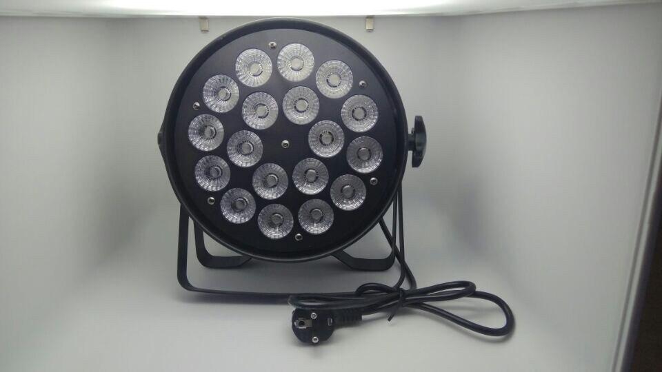 Aluminum shell 18x12W RGBW Led Par Light DMX Stage Lights Business Lights Professional Flat Par Can for Party KTV Disco DJ Lamp flat led par rgbw dmx512 disco lamp stage light voice activated discos music light disco bulb effetto luci discoteca 18 12 leds