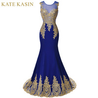 Elegant Designs Black White Blue Red Mermaid Evening Dress Embroidered Luxury Lace Formal Dresses Long Party
