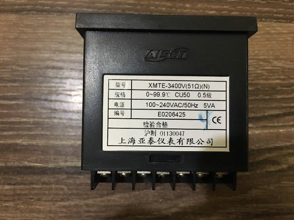 AISET Shanghai Instrumentation XMTE 3400V 51 Omh intelligent temperature cu50 0 99 9 0 5 100
