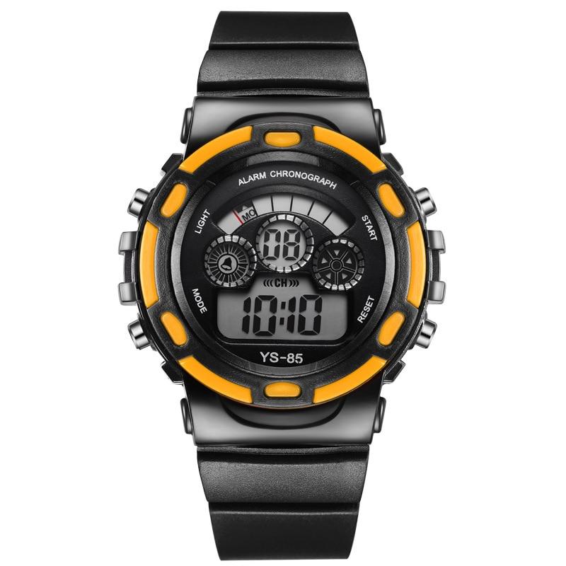 Luminous boy girl multi function sports electronic watch colorful luminous chronograph children 39 s watch Silicone Digital in Children 39 s Watches from Watches