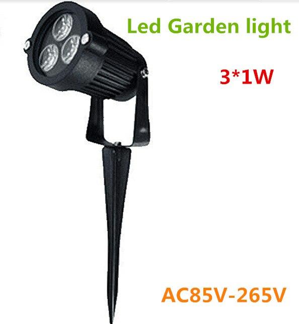 10pcs/lot Waterproof led garden light 3*1W AC85-265V IP65 outdoor led lighting led lawn lighting spotlight landscape