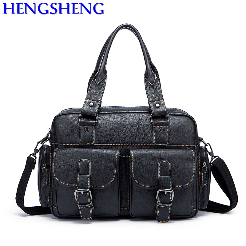 Free Shipping casual men genuine leather handbags for travelling bags genuine leather men messngers bag by cow leather men bags genuine leather