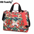 UU Family 2016 Autumn Travel Tote With Printing Flower Design Women Duffle Bag Overnight Enlarged Expendable Capacity Weekend
