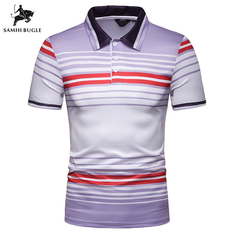 2019 Summer Brand Striped   Polo   Shirt men Cotton Short Sleeve   polo   homme High Quality Business men   Polo   Shirts