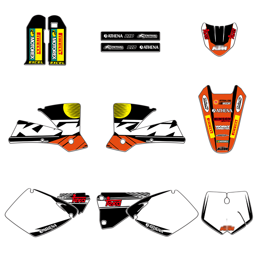 NEW Team Graphics Sticker Decals Deco For KTM SX 250 380 400 520 2001 2002 MXC