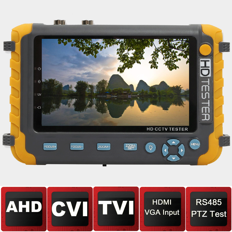 5inch Screen AHD Camera tester CVI test monitor TVI tester CCTV camera tester with HDMI VAG input RS485 PTZ pro skit taiwan bao mt 7062 hdmi cable measuring tester test