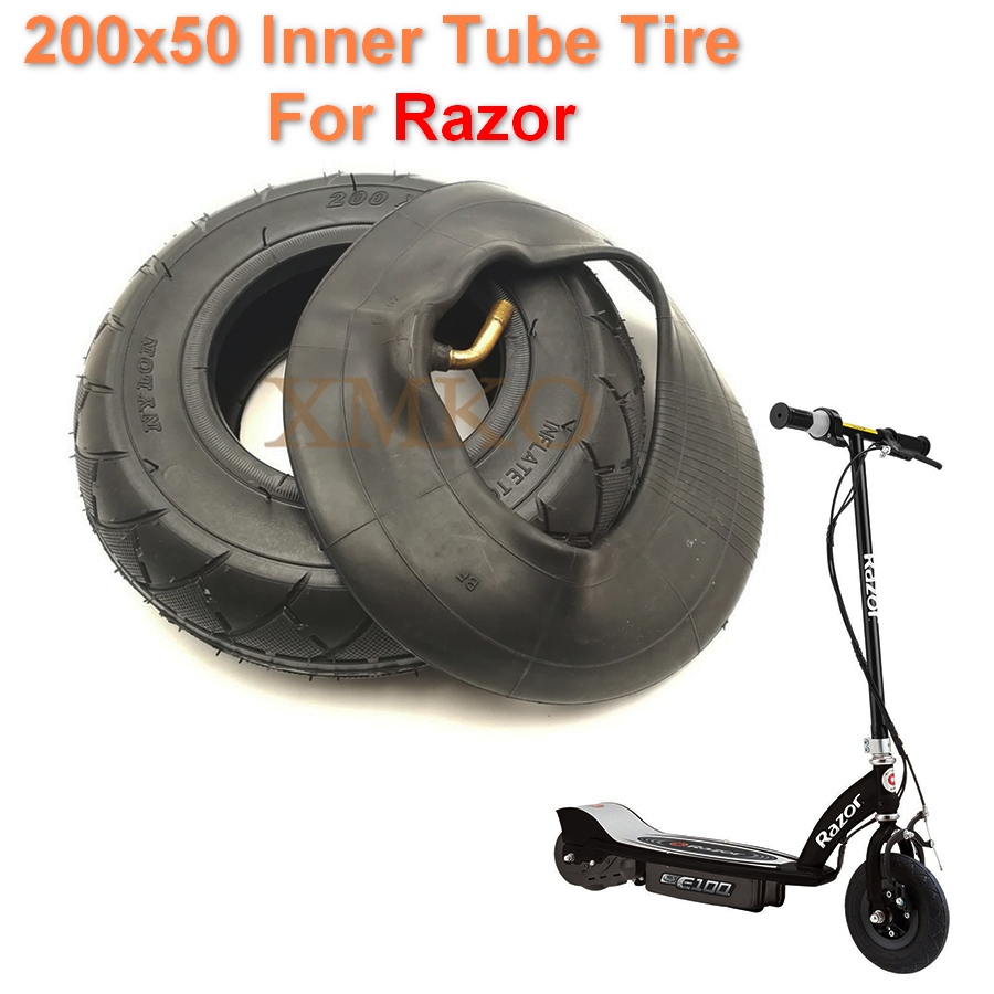 Us 6 86 Razor Electric Scooter Front Tire 200x50 Inner Tube Tire E Scooter Razor E100 E125 E175 E200 E300 Espark Front Wheel Tyre In Scooter Parts