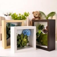 DIY Photo Frame High Quality Picture Frame Square Vintage Specimen Photo Frame Dried Flowers Home Decoration