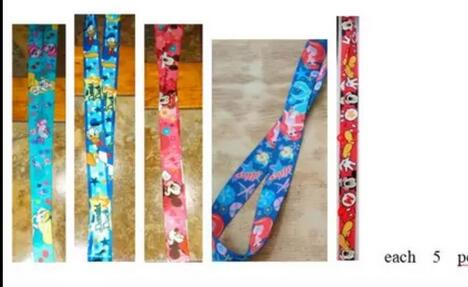 New 25 pcs mickey minnie   Cello Phone Key Chain Neck Strap Keys  Lanyards gift X-216