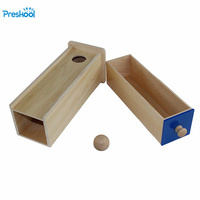Montessori Infant Toy Baby Wood Ball Rectangular Drawer Learning Educational Preschool Training Brinquedos Juguets 24 months