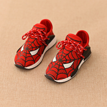 Free shipping 2016 autumn new children's casual  running mesh  shoes Spider-Man 3 color