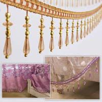 12 M/Lot Curtain Sewing Tassel Fringe Trim Crystal Bead Lace Accessory European