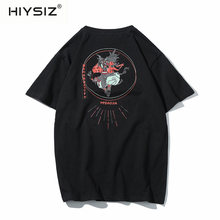 HIYSZI NEW T-Shirt MEN 2019 Casual Streetwear Grid style summer new Japanese large-size original short-sleeved T-shirt ST279
