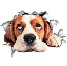 4PCS 3D Cute dog Car Stickers High Quality Decoration Hood Side Tail Door Car Sticker Vinyl Motorcycle Bicycle Accessories yjzt 14cmx8 2cm lovely smooth haired dachshund dog high quality car sticker c1 9043