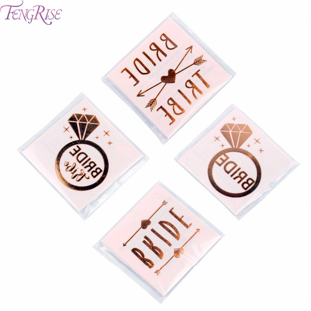 FENGRISE 1pcs Team Bride Tattoo Stickers Wedding Favors And Gifts ...