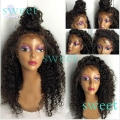 kinky curly synthetic lace front wig with baby hair Heat Resistant Hair Glueless lace Wigs 1#2#6# for black women synthetic wigs