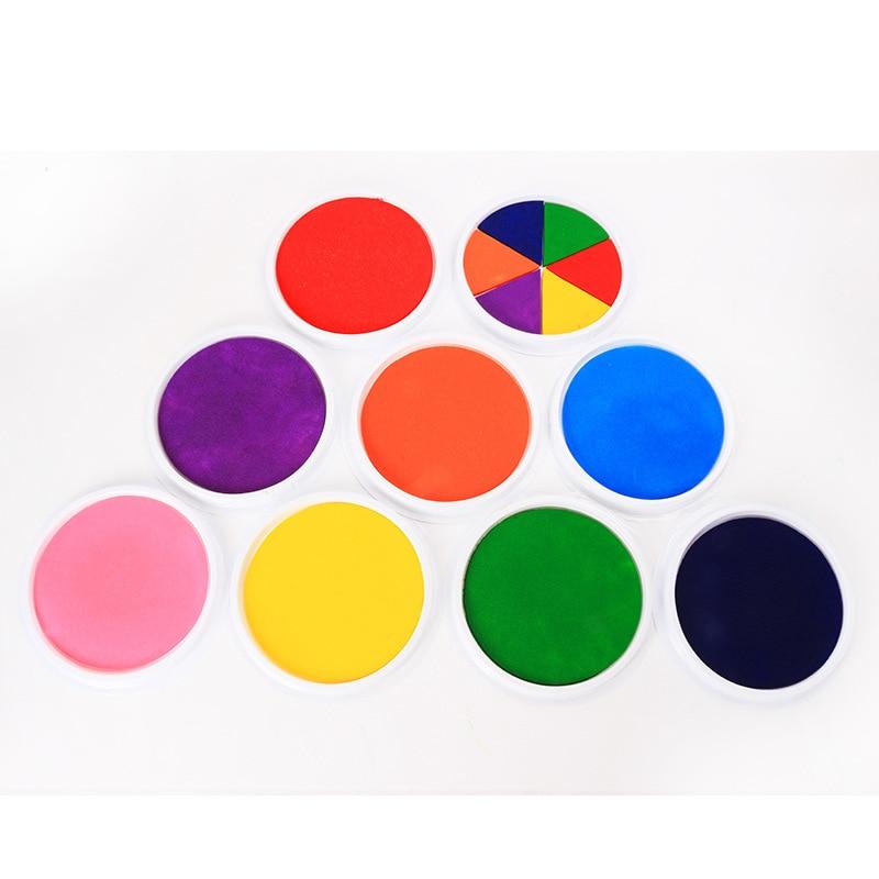Craft Ink Pad Stamps Partner Children's Finger Painting InkPads Wedding Sign In Color Ink Pad DIY Rubber Stamps