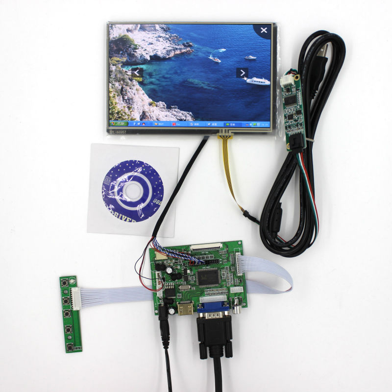 HDMI+VGA+2AV LCD driver board VS-TY2662-V1+71280*800 N070ICG-LD1/LD4+touch panel hdmi vga 2av lcd driver board vs ty2662 v1 for 71280 800 n070icg l21 ips lcd