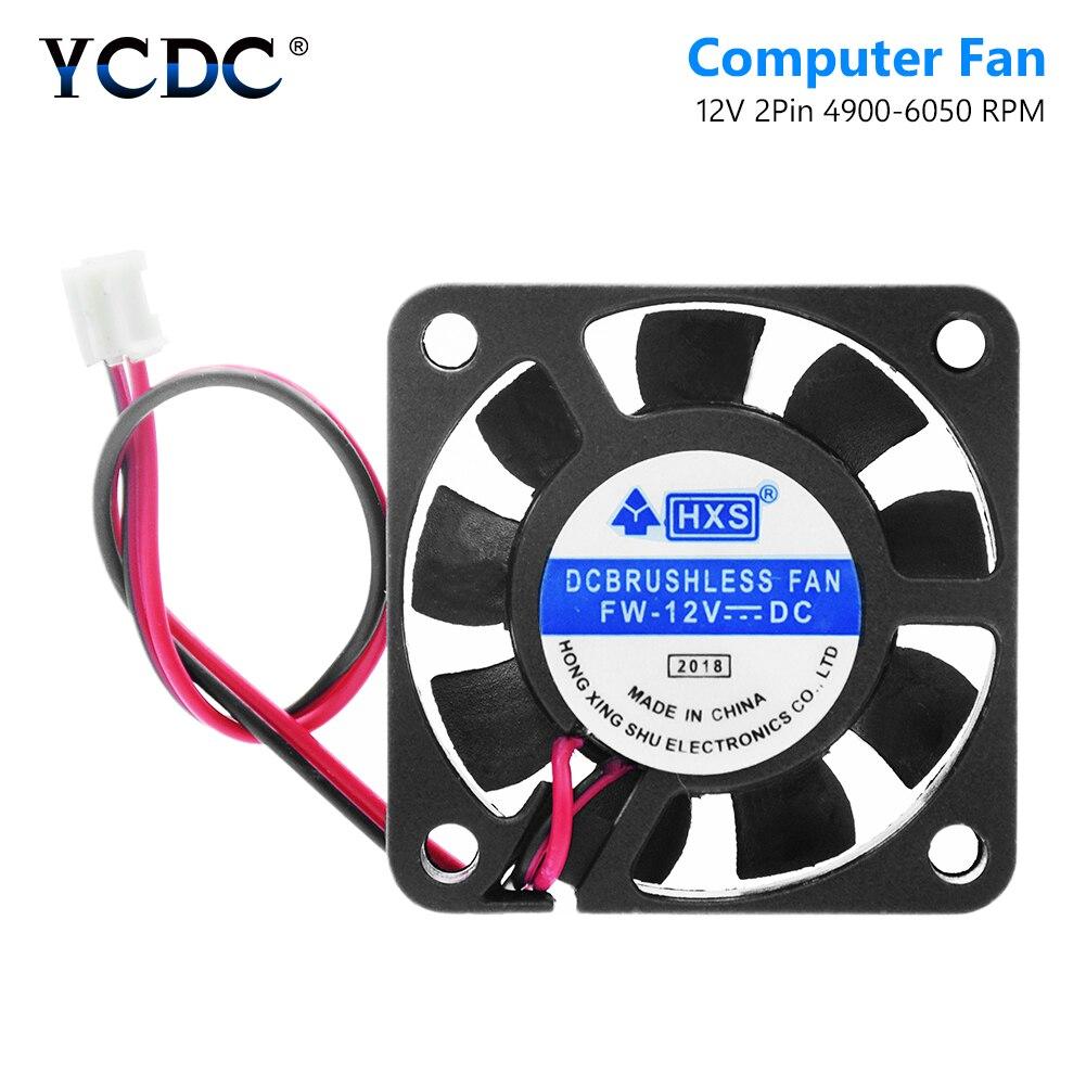 2 Pins Case Fan 12V DC CPU Cooler Cooling For PC Computer Heatsink 40x40x10mm