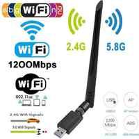 1200Mbps longue portée AC1200 double bande 5.8G/2.4G sans fil USB 3.0 antennes adaptateur WiFi
