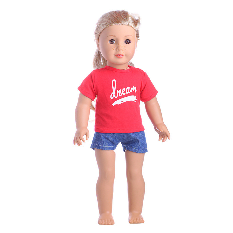 """shirt for American Girl or any 18/"""" doll Red t"""