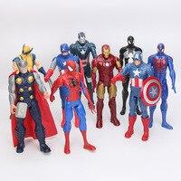 30cm American Movie Anime Super Heros Captain America Ironman Spiderman The First Avenger Superhero PVC Figure