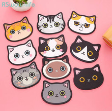 3pcs Cartoon High-quality Decorations For Cute Kitten  With Silica Gel Heat Shield Table Mat Placemats Cup