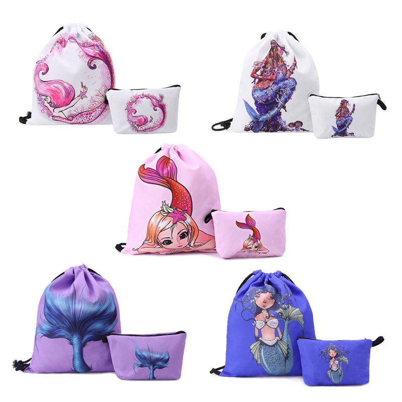 Fashion Nylon Drawstring Bag Backpack Cinch Sack School Bookbag Swimming Travel Handbag Adults Kids Sports Rucksacks