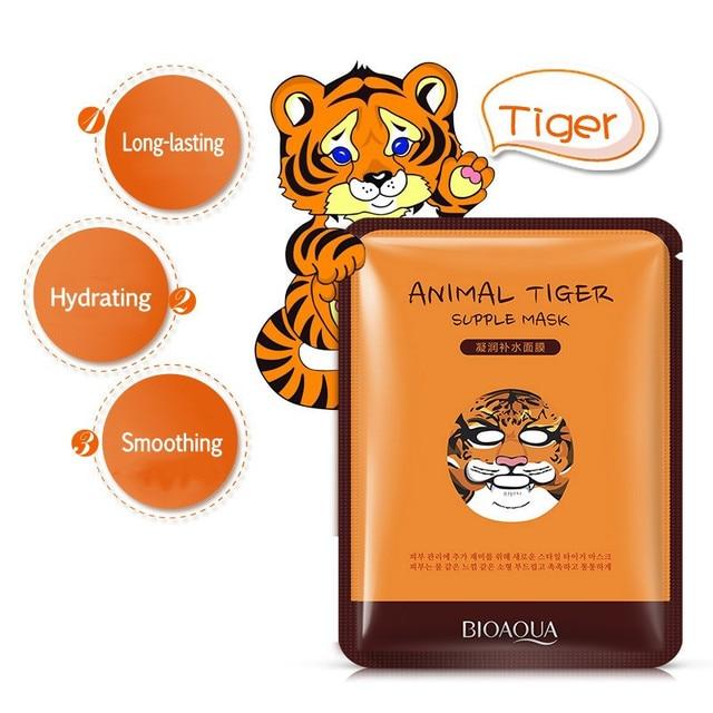 BIOAQUA 1 pcs Skin Care Sheep/Panda/Dog/Tiger Facial Mask Moisturizing Cute Animal Face Masks 4