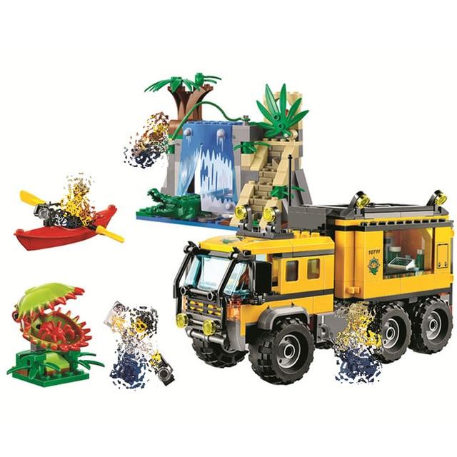 Bela 10711 Raiders of Lost Ark Jungles Adventure Mobile Lab Building Blocks  Educational toys for Kids