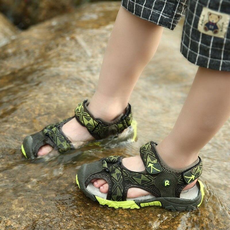 Summer new style Children boys sandals shoes boys fashion cut-outs sandals kids canvas rain sandals breathable flats shoes
