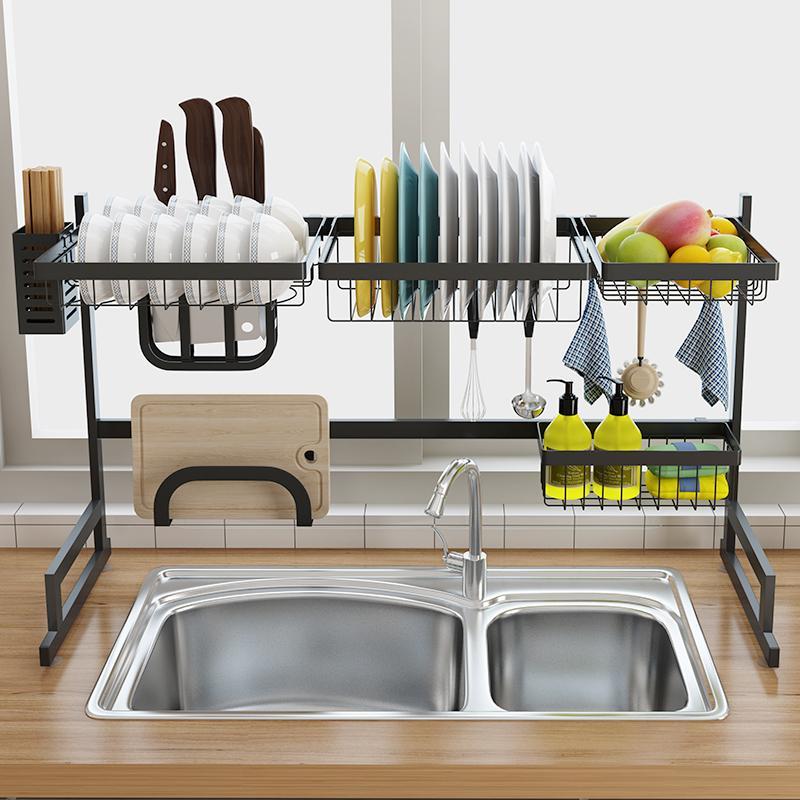 stainless-steel-sink-drain-rack-kitchen-shelf-twostory-floor-sink-rack-kitchen-organization-kitchen-sink-kitchen-aid-cuba-inox