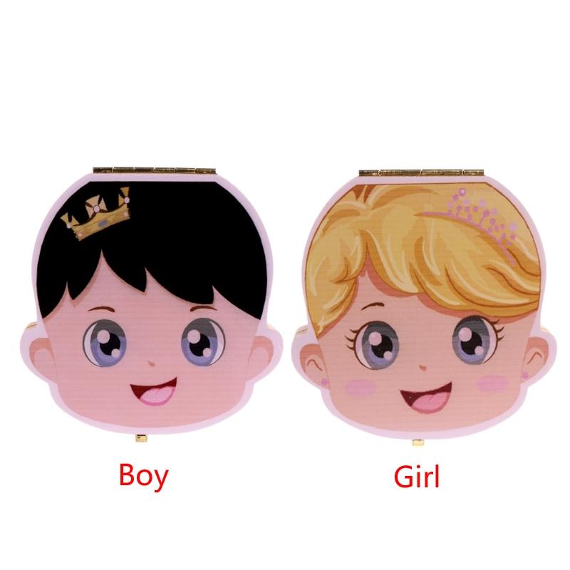 Детский ящик для зубов, органайзер для молочных зубов, деревянный ящик для хранения для мальчиков и девочек