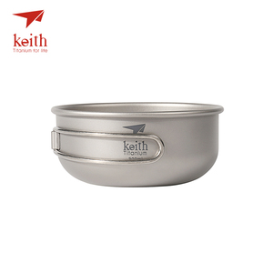 Image 2 - Keith Camping Titanium Bowls 300ml 600ml With Titanium Folding Handles Folding Bowls Cookware Tableware Cutlery Ti5323 Ti5326