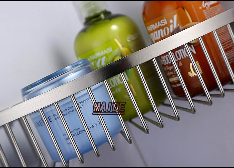Nice High End Brushed Nickel 304 Stainless Steel Bathroom Accessories Shower  Caddy Wire Basket Storage Shelves In Bathroom Shelves From Home Improvement  On ...