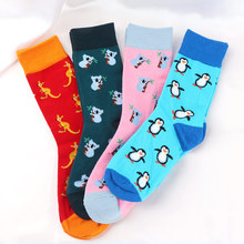 1 Pair Cartoon Socks Penguin Koala Animal Pattern Female Cotton Pile Heap Spring Autumn Hot Sale Classic Personality Sock
