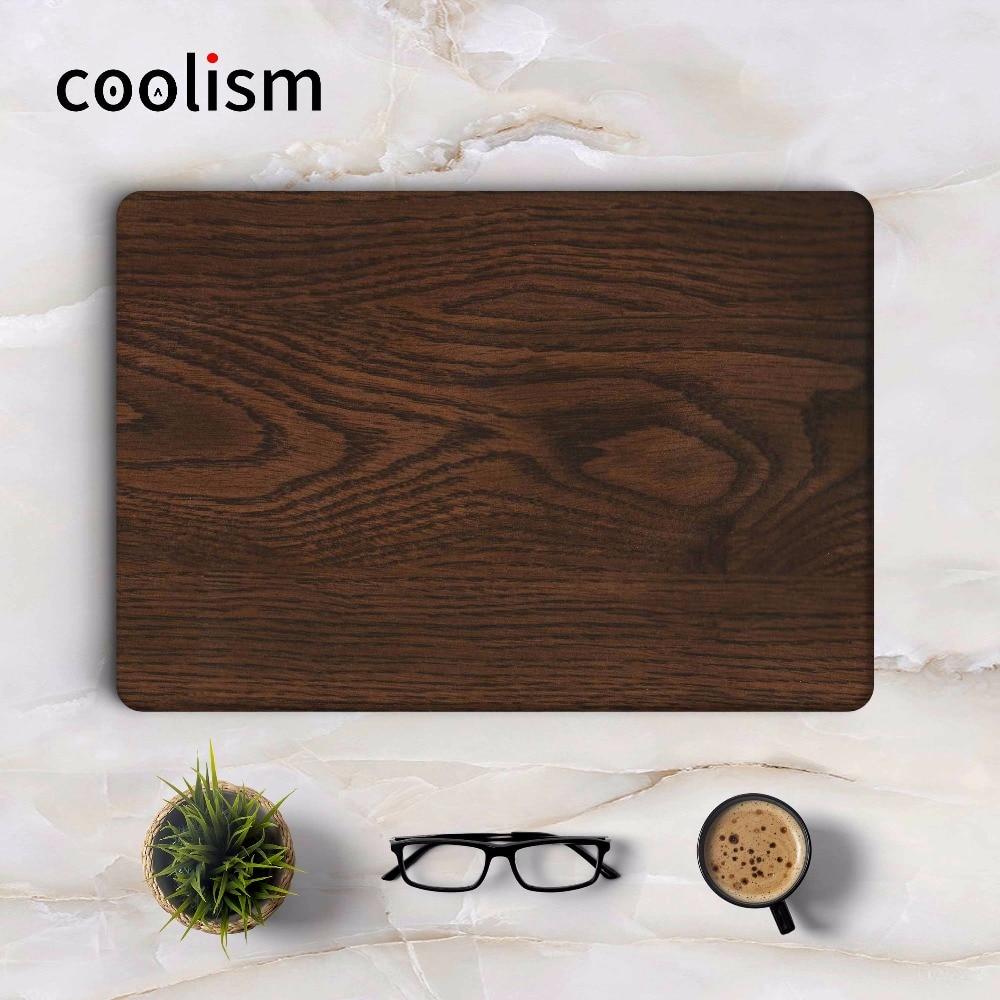 Dark Oak Wood Grain Laptop Sticker Full Cover Skin for MacBook Air/Pro/Retina 11 12 13 15 inch Mac Mi Protective Notebook Decal