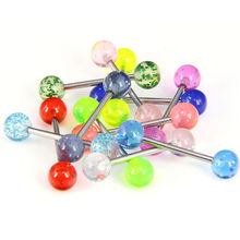 12Pcs Acrylic Nipple Ring Tongue Ring Studs