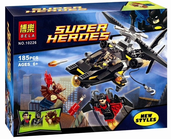 18BELA 10226 Marvel DC super hero Batman Helicopter Model Building Block Figure Bricks set Toy LR-122 Compatible with Legoe