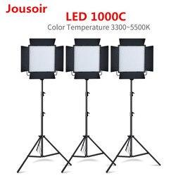 3PCS Godox LED1000C 3300K-5600K LED Light Kit with 3PCS 2.8m Light Stand Video Continuous Light Kit for Childrens Video CD15