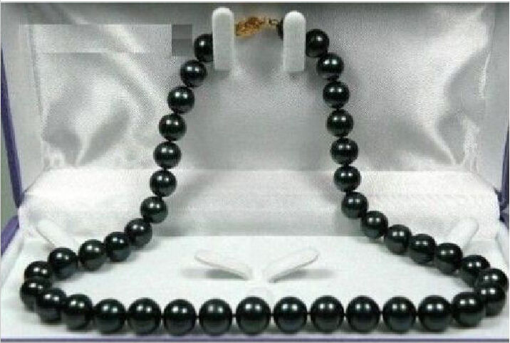 free shipping HUGE AAA 10-11MM TAHITIAN GENUINE PERFECT BLACK PEACOCK PEARL NECKLACE 18 r a()free shipping HUGE AAA 10-11MM TAHITIAN GENUINE PERFECT BLACK PEACOCK PEARL NECKLACE 18 r a()