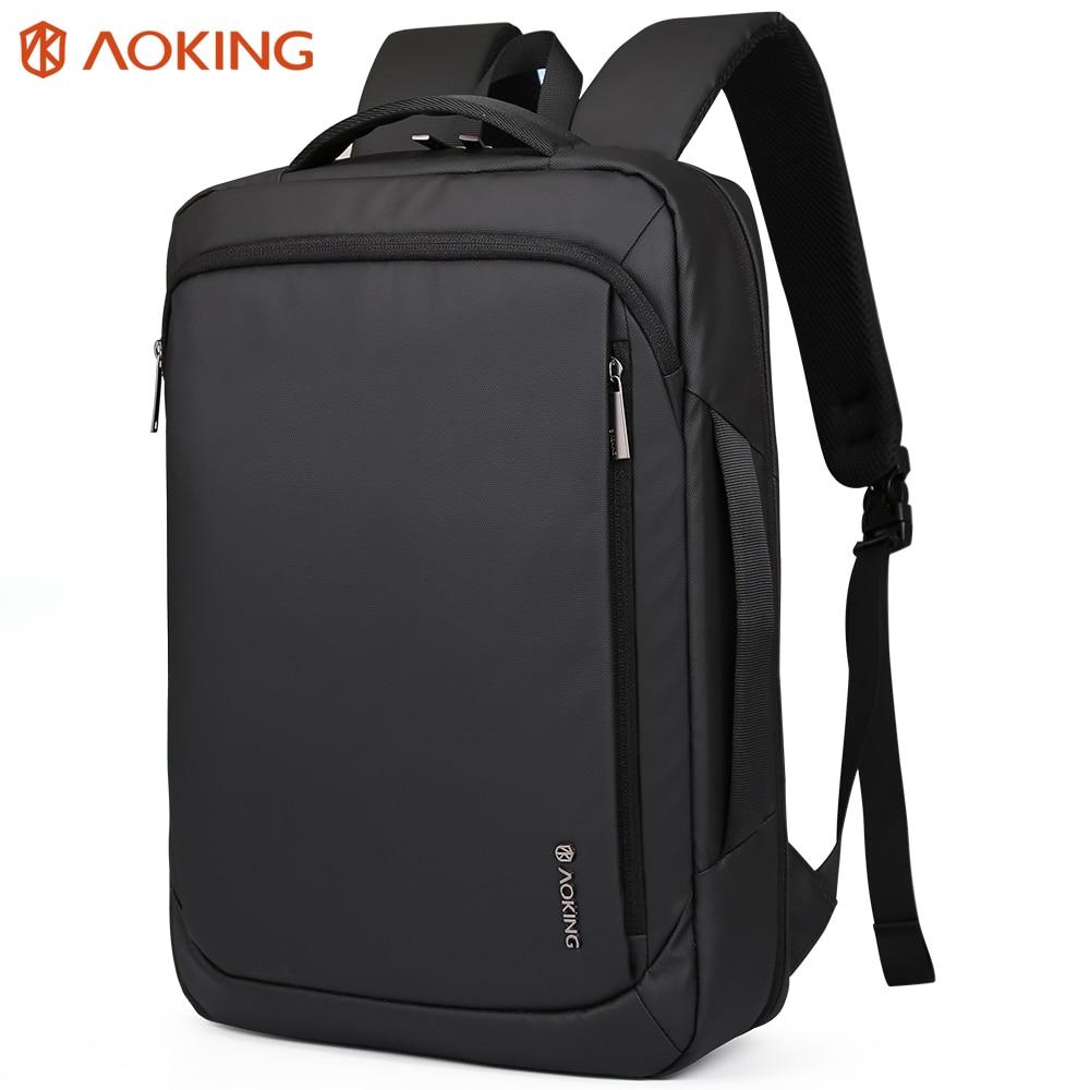 Aoking 2019 New Arrival Waterproof Nylon Backpack For Teenagers School Bag Multifunctional Large Capacity 15 6