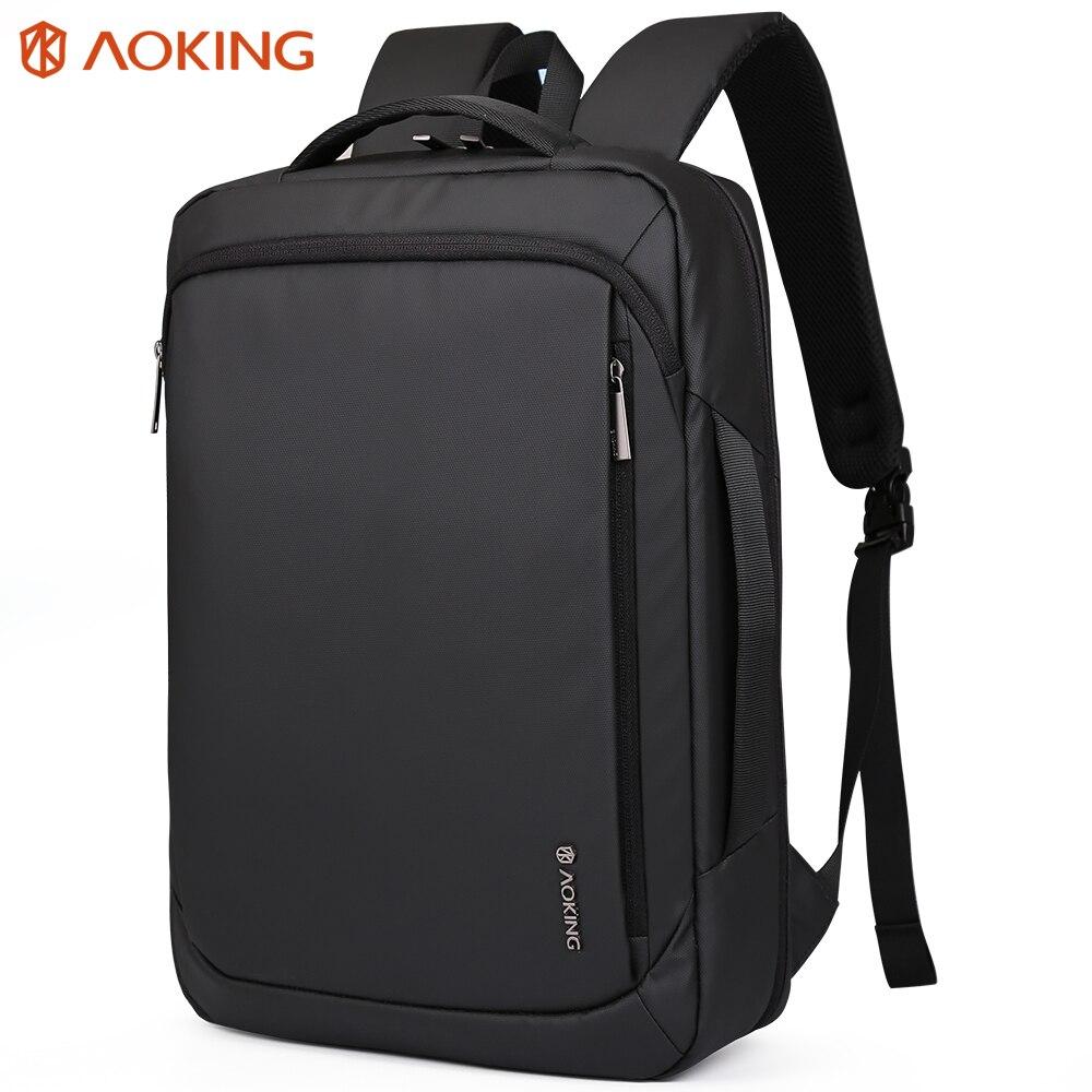 Aoking 2019 nouveauté sac à dos en Nylon étanche pour adolescents sac d'école multifonctionnel grande capacité 15.6 sac à dos pour ordinateur portable-in Sacs à dos from Baggages et sacs    1