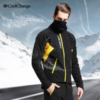 CoolChange Winter Cycling Clothing Waterproof Mtb Bycicle Bike Clothing Thermal Fleece Cycling Set Reflective Men Sports Suits
