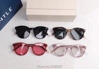 Hot Fashion Korea Vintage V Sunglasses Black peter Retro Round Sun Glasses For Men Womens gentle Brand Designer Oculos De Sol