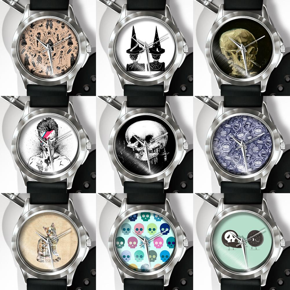 Creative Skull Cat Pattern Dial Quartz Analog Wrist Watch Boys Girls Gifts Hot Fashion 2018 Unisex Popular dropshipping Bracelet пилочка для ногтей leslie store 10 4sides 10pcs lot