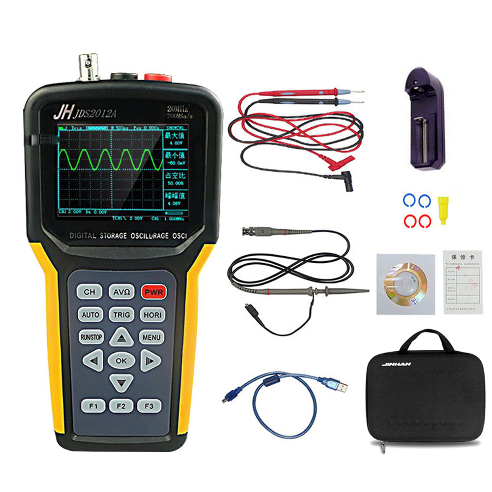 JDS2012A Handheld Digital Oscilloscope Multimeter 4000 Counts 20MHz Bandwidth Electrician Circuit Auto Electrical Maintenance